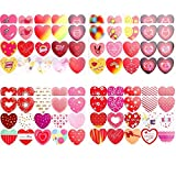 Pegatinas de San Valentín Etiqueta Engomada del Corazón Pegatinas Decorativas para el Día de San Valentín o el Proyecto de Artesanía para Adultos o Niños 120 Piezas