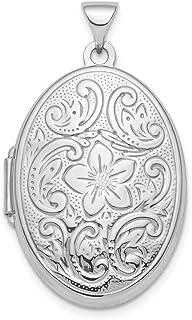 Ciondolo ovale in argento Sterling 925 lucido, 26 mm