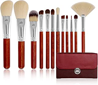 Makeup Brushes Premium 12 PCS Sintético Bamboo Wood Blush Foundation Sombra de Ojos Eyeliner Bronzer Pinceles de Maquillaje Juegos LLhyq