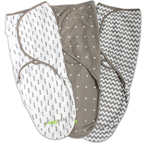 Swaddle Blanket, Adjustable Infant Baby Wrap Set 3 Pack Soft...