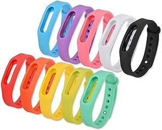 Best of Source Set of 10 Pcs Colorful Replacement Bands Go-tcha, Xiaomi Mi/1S Tracker Smart Bracelet