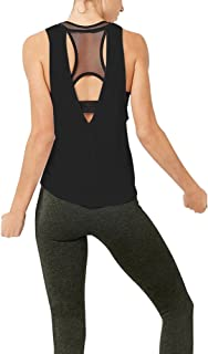 Mippo Women's Sexy Open Back Workout Tops Yoga Clothes Muscle Tanks Athletic Tank Tops