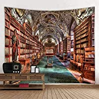 壁掛け インテリア,壁飾り インテリア,タペストリー 自然タペストリータペストリー、デジタル印刷タペストリー、3D本棚タペストリーベッドサイド装飾布-2_230cmx180cm