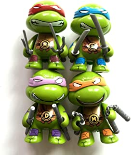 BRANDSALES TMNT Mini Teenage Mutant Ninja Turtles Vinyl Figures Cake Toppers (4 PCS)