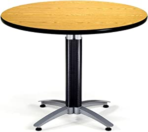 "OFM Core Collection 42"" Multi-Purpose Round Table with Metal Mesh Base, in Cherry (KMT42RD-CHY)"