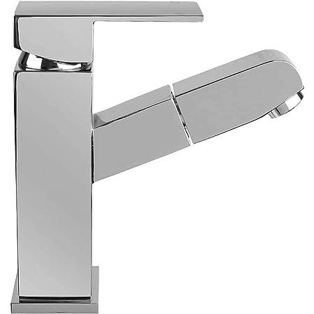 Lonheo Grifo Lavabo Extraible Mezclador Ba/ño Moderno con Agua Caliente y Fr/ía Grifer/ía Cromo Monomando 2 FUNCI/ÓN