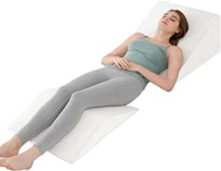 JOYPEA Wedge Pillow Set 3 in 1 Foam Bed Wedge Pillow, Reading Pillow, Back Support Wedge Pillow for Back and Legs Support,...
