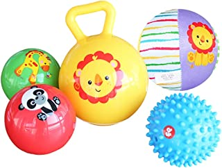 QERNTPEY Textured Multi Sensory Ball Balls Especially Designed for Toddler Hands Training Ball Suit Baby Hand Grip Ball To...
