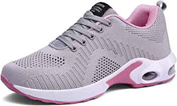 PAMRAY Womens Athletic Running Shoes Tennis Breathable Walking Sneakers Air Gym Sport Fitness