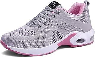 أحذية رياضية للركض من PAMRAY للسيدات أحذية تنس قابلة للتنفس المشي الرياضية الهواء رياضة اللياقة البدنية, (غري-ايه), 39 EU
