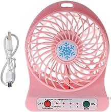 YAOHEHUA Draagbare 5 W Outdoor LED Licht Ventilator Luchtkoeler Bureau USB Ventilator Zonder 18650 Batterij