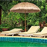LYYJIAJU Parasolparasol Terrazze e Giardini Beach Straw Parasole Esterna Sdraio Impermeabile Ombra for Garden Pool Patio Ombrelloni Rotonda con Tilt Funzione