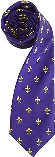 Men's French Fleur de Lis Symbol Designer Novelty Tie Necktie