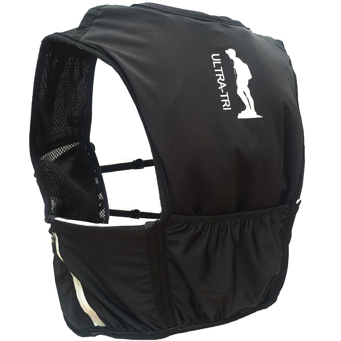 赤外線支配するブルジョンULTRA-TRI 超軽量 ランニングバックパックハイドレーション アウトドア スポーツバッグ 登山 レース 遠足 リュックサック 8L