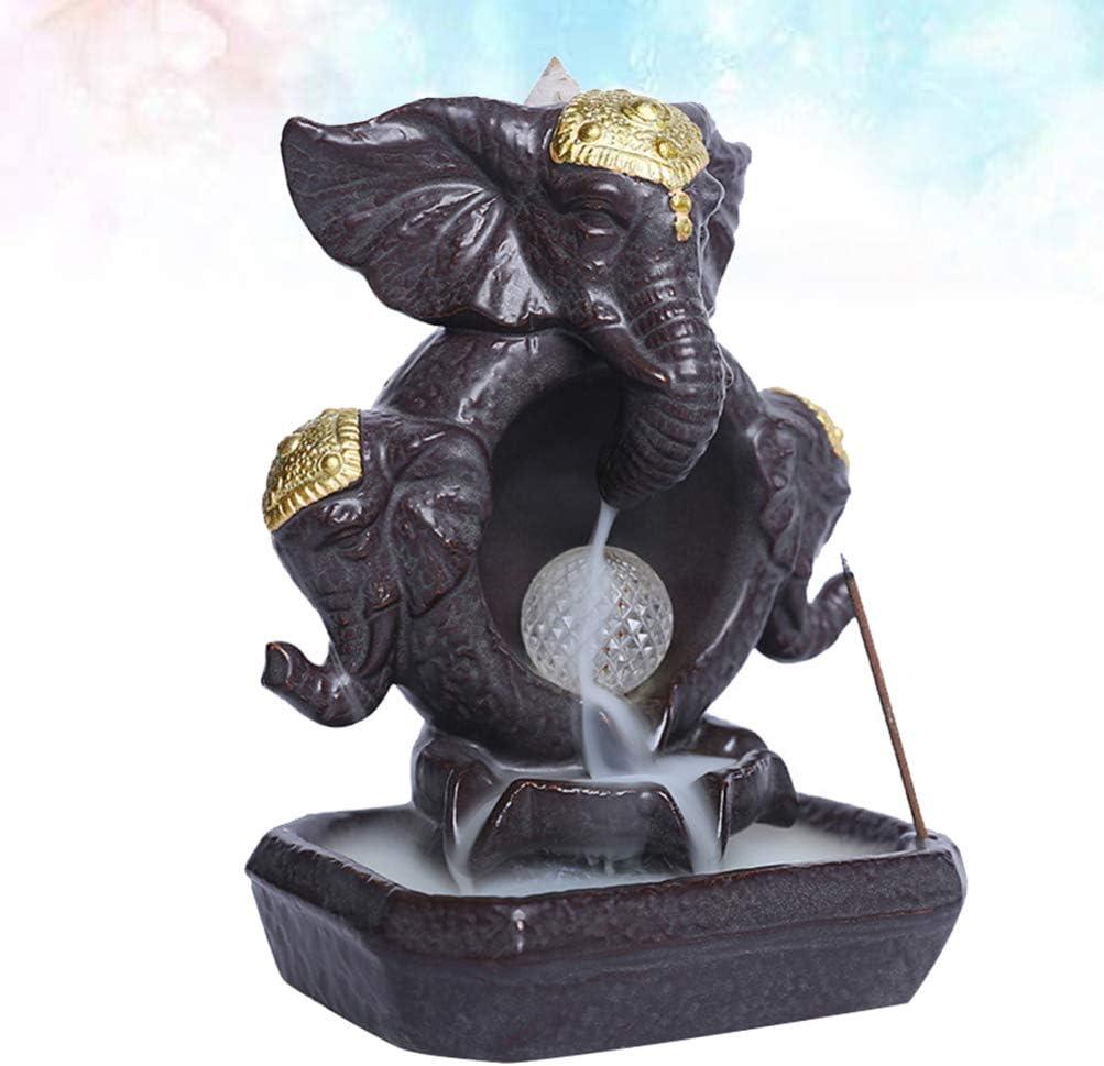 1pc アイテム勢ぞろい Elephant Backflow Incense Burner 送料無料新品 Holder Back Ceramic
