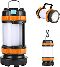 Chulovs Rechargeable Camping Lantern Flashlight, 800 Lumens,4 Lighting Modes,4000mAh PowerCore,IPX4 Waterproof,Portable fo...