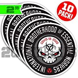 "Best Hard Hat Stickers - 10 PACK 2"" International Brotherhood of Essential Workers Review"