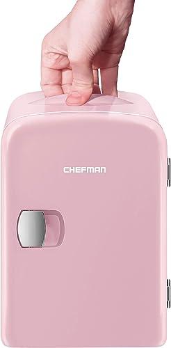 Chefman Mini-Refrigerador Portátil | Mini-Fridge | Frigobar | Rosa