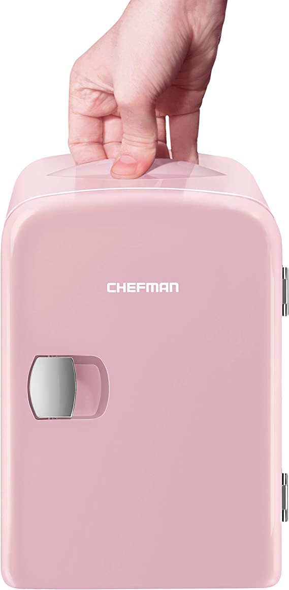 Cooluli Classic White 10 Liter Compact Portable Cooler Warmer Mini Fridge for Bedroom