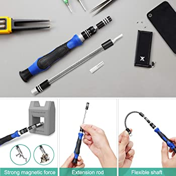 ORIA Precision Screwdriver Set, 86 in 1 Magnetic Repair Tool Kit, Screwdriver Kit with Portable Bag for Game Console,...