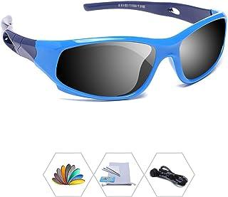 AODUOKE Sports Polarized Kids Sunglasses For Boys Girls Children Mirrored Lens Sunglasses With Strap