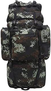 Bolsa de montañismo al aire libre fan del ejército camuflaje mochila de guerrero, mochila de senderismo, mochila de viaje impermeable mochila de senderismo mochila de senderismo con protector de lluvi