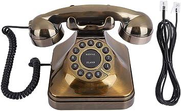 M ugast Vintage Telephone Landline,Bronze Antique Retro Office Desktop Wired Phone Landline with Noise Reduction/Number St...