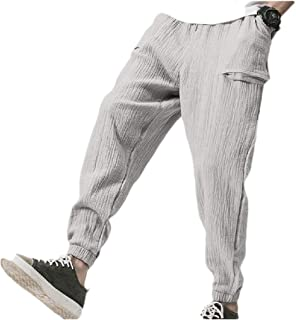 Zimaes Mens Spring/Fall Regular-Fit Solid Mid Waist Sport Pants