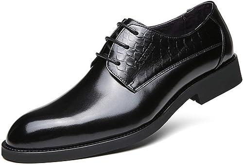 Les hommes les chaussures en cuir, souliers, cuir tranchants, british lace des chaussures en cuir,noir,quarante - deux