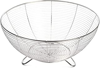 SWZJJ Storage Basket,Desktop Nordic Style Kitchen Fruit Basket Metal Iron Holder Storage Decorations