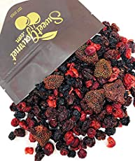 SweetGourmet Premium Dried Berry Mix | Cherry, Cranberry, Blueberry, Strawberry | NON GMO | No Sulfur | No Preservative | 2 Pounds