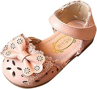 40418cb026e17 Sandales Bout Fermé Bébé Fille et Nu-Pieds Élégantes Fleurs Bowknot  Princesse Creux Chaussures Loisirs