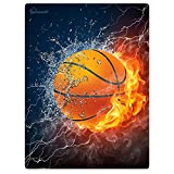 HommomH 59' x 80' Blanket Comfort Warmth Soft Cozy Air Conditioning Easy Care Machine Wash Basketball Fire Cool