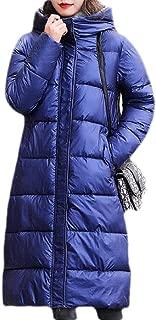 Macondoo Women's Down Hooded Cotton-Padded Casual Overcoat Parkas Coat
