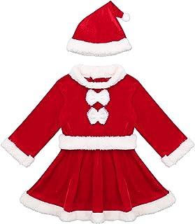 Tenue Christmas Mère Noël Mini Robe Scintillant Déguisement NEUF