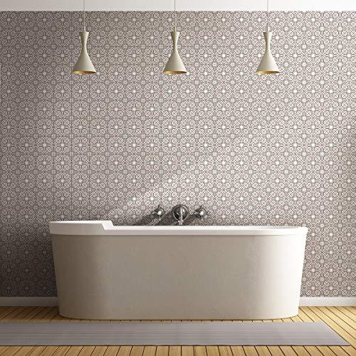 Självhäftande kakelklistermärken – klistermärke för cementplattor – väggdekorationsplattor för badrum och kök – självhäftande cementplattor väggplattor – 20 x 20 cm – 60 stycken