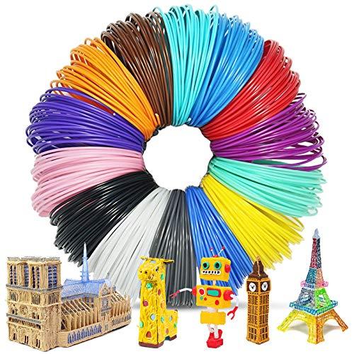 ZOCONE 3D Penna Filamento 1.75mm, 12 Colore(5 Metri per Colore) Linee di Stampa 3D Stampa Filamento, Alta Qualità, 3D Pen Stampa Filamento Pla Adatto per Stampante da 1,75 mm e Penna da Stampa