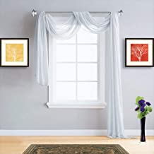 """Warm Home Designs XXL 54"""" (Width) x 288"""" (Length) Sheer White Ivory Window Scarf (Rare 24 Feet Long Size). All Valance Scarves are Great for Any Window, Bed, Wall or Other DIY Project. K Ivory 288"""""""