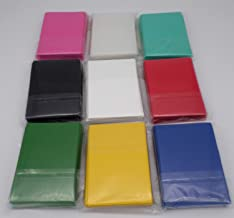 docsmagic.de 9 x 60 Mat Card Sleeves Small Size 62 x 89 - Black Blue Green Red White Yellow Pink Mint Clear- YGO CFV - Mini Fundas