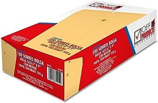 Mapasa IA0233 Paquete con 100 Sobres, Tamaño Esquela Golden Kraft con Broche