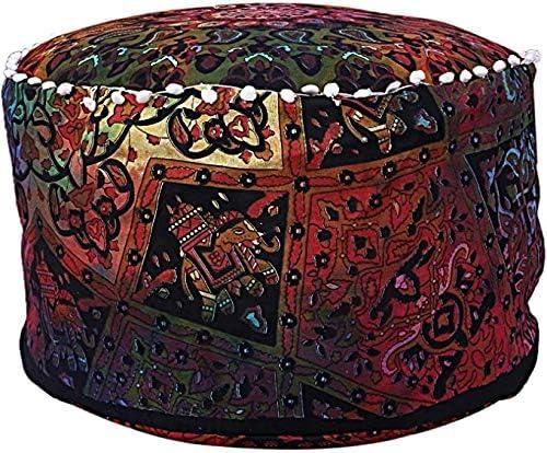 Large Long-awaited special price GANESHAM Indian Mandala Pouf Ottoman Hippie Cotton Floor Pillow