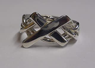 Ladies 4 Band Cross Puzzle Ring Style 4CR-L