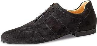 Werner Kern Hombres Zapatos de Baile 28045 - Ante Negro - 1.5 cm Micro-Heel