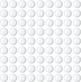 Glass Cabochon 12mm for Jewelry Making 100 PCS Round Dome Cabochons with Flat Backs Glass Dome Tiles Clear Cameo for Pendants Magnets and Crafts (100 PCS, 0.5 INCH)