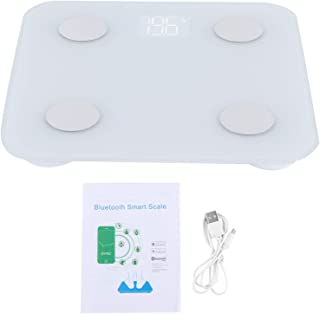 Omabeta Báscula de Grasa Corporal Duradera Báscula electrónica Báscula de Peso Inteligente efectiva Fácil de Colocar para la Oficina en casa