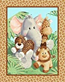 36' Fabric Traditions Panel - Jungle Babies Patty Reed Nursery Baby Wallhanging