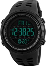 SKMEI Digital Men's Watch (Black Dial, Black Colored Strap)