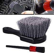 Tire Brush with Short Handle Wheel Brush, Soft Bristle Car Tire Wheel Brush Cleaner, Rim Detailing Brush Multipurpose use ...
