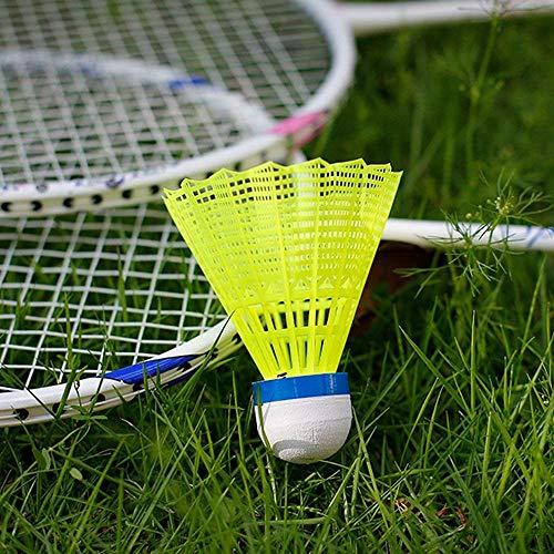ZHENAN 12Pack Advanced Nylon Feather Shuttlecocks77 GrainsHigh Speed Badminton Balls YellowNylon with Great Stability and DurabilityIndoor Outdoor Sports Hight Speed Training Badminton Birdies