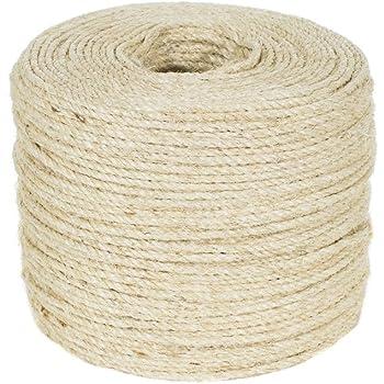 Twine Wellington Cordage 11345 1//4-Inch X 100-Feet Natural Fiber Twisted Sisal Strand Rope